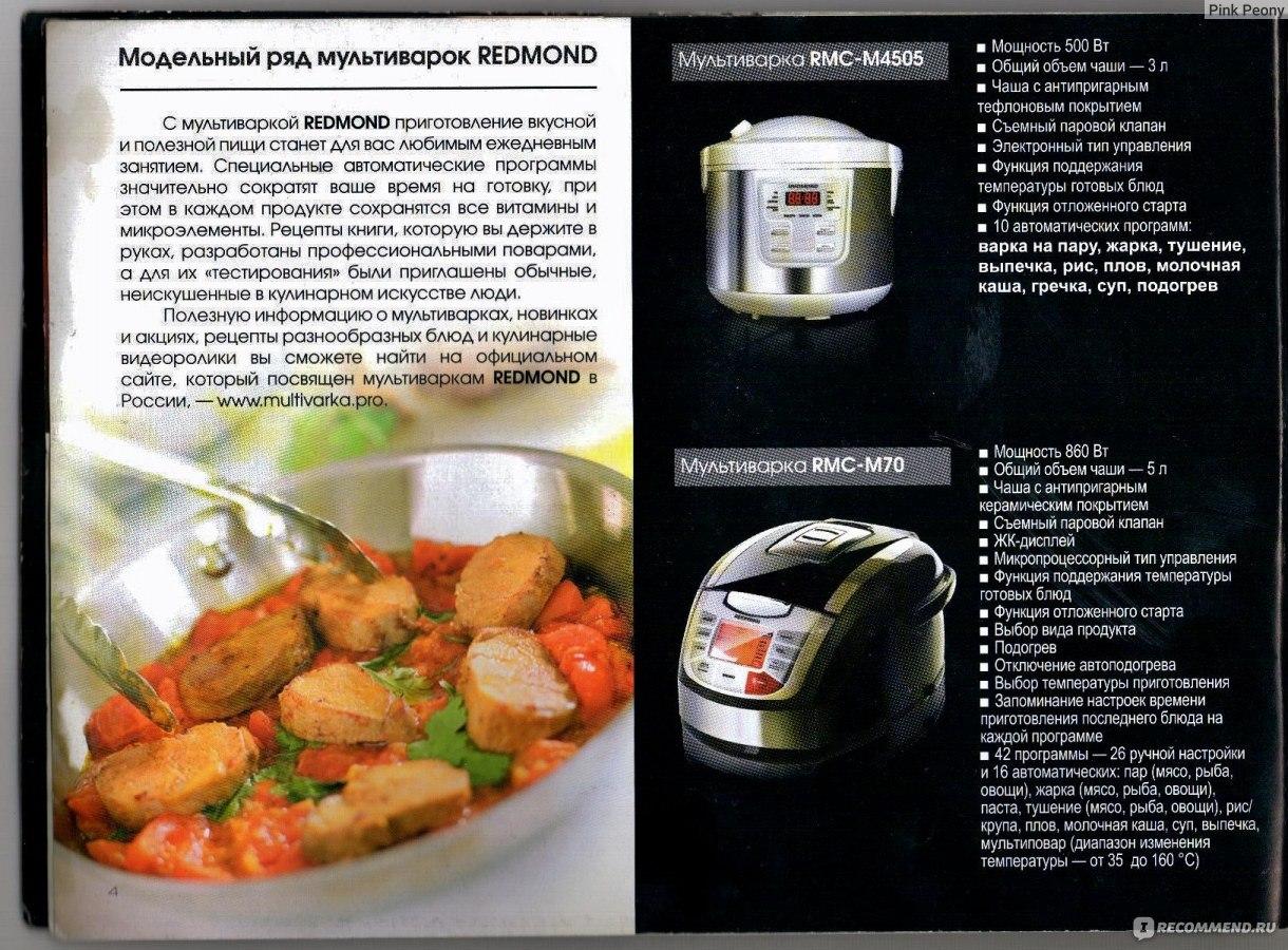 Блюда в мультиварке редмонд 4502 рецепты простые и вкусные 27