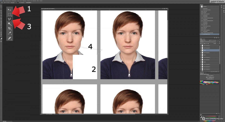 Как сделать фото 3на4 в фотошопе фото 800