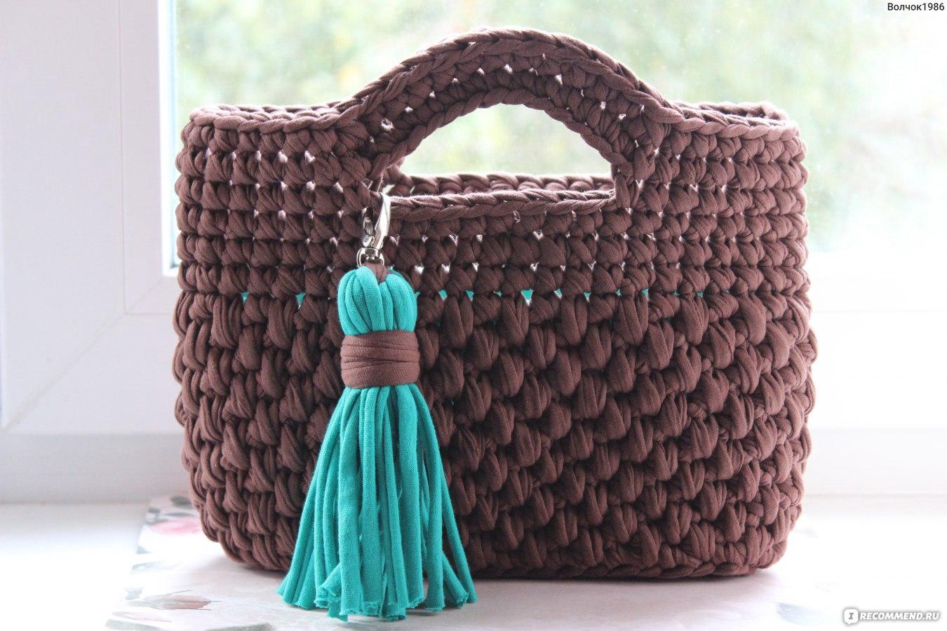 Вязание спицами сумки из трикотажной пряжи 38