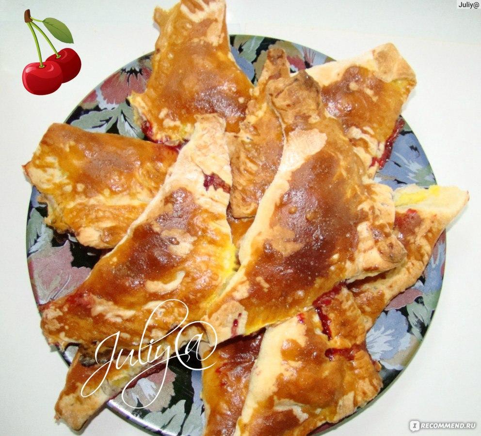 Слоеное дрожжевое тесто с вишней рецепт с пошагово в духовке 10