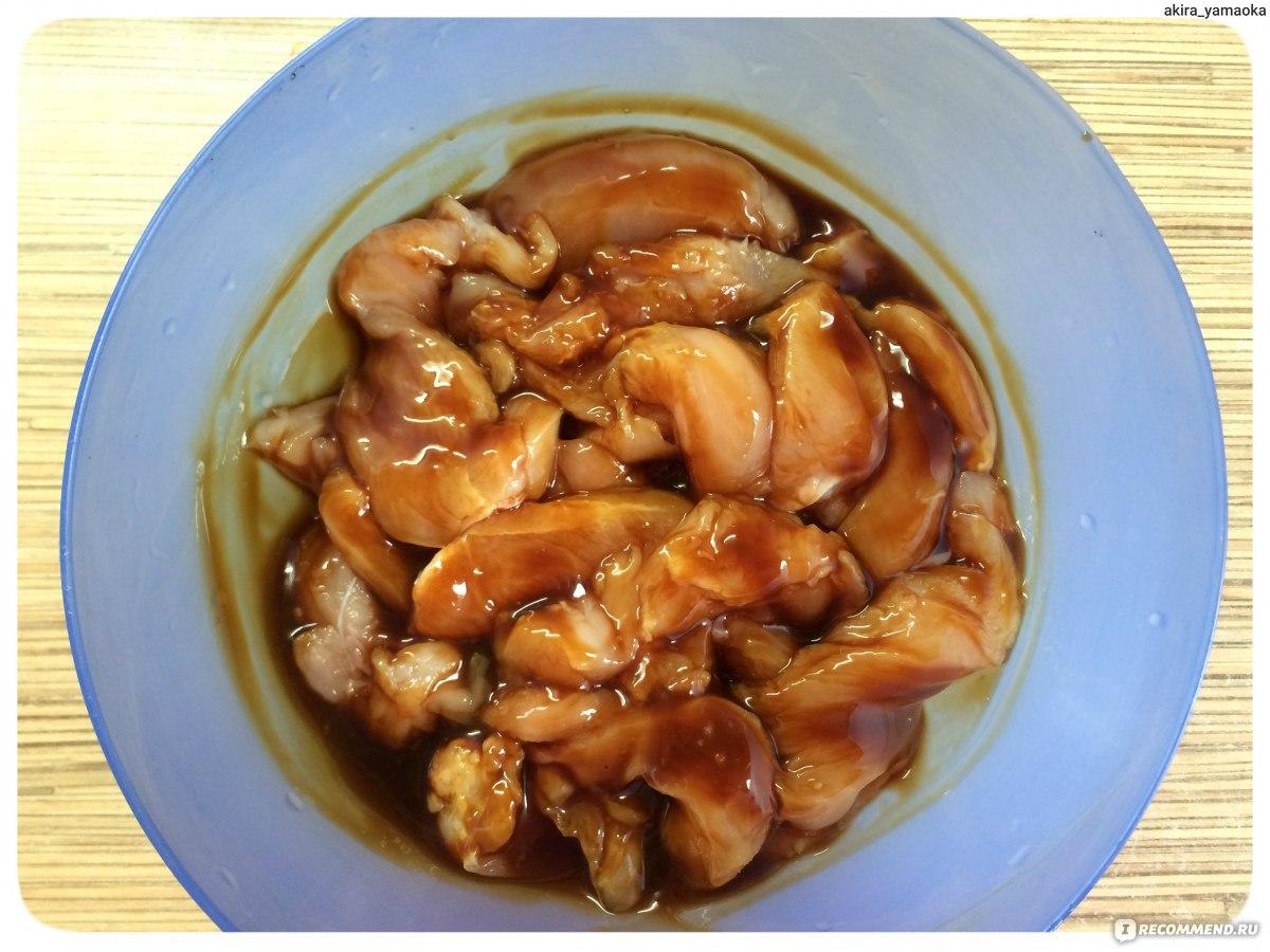 Куриные желудочки с рисом под соусом терияки - Сэголь 41