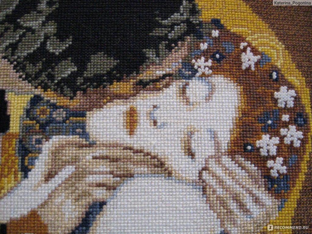 Поцелуй климт схема вышивка крестом
