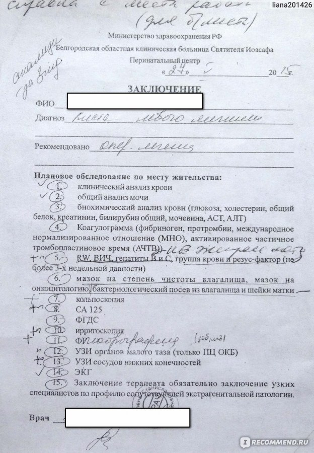 Биохимический анализ крови перед лапороскопией Медицинская справка для работы на высоте Щёлковское шоссе