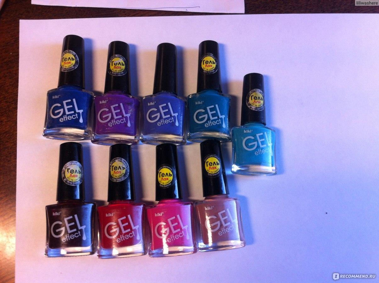 Лак для ногтей kiki gel-effect
