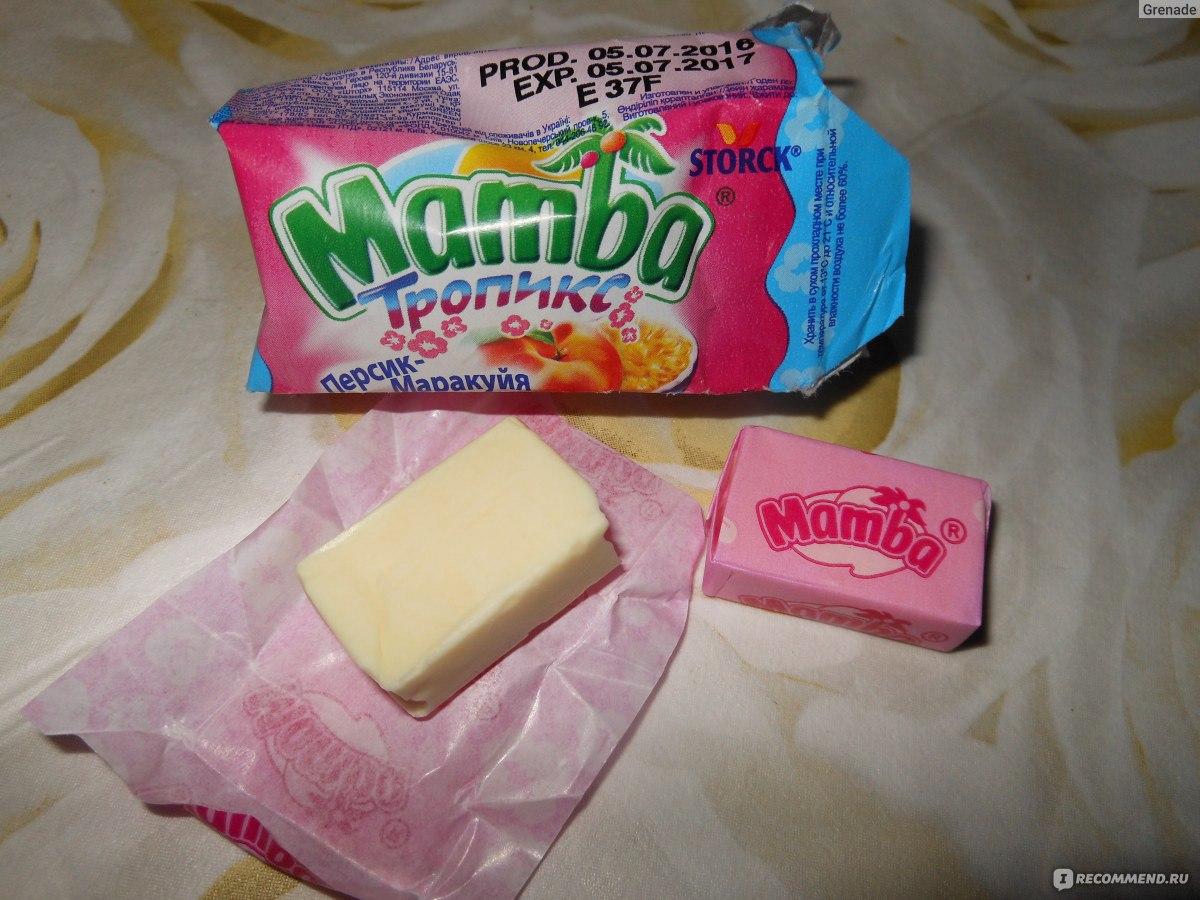 калорийность конфет мамба