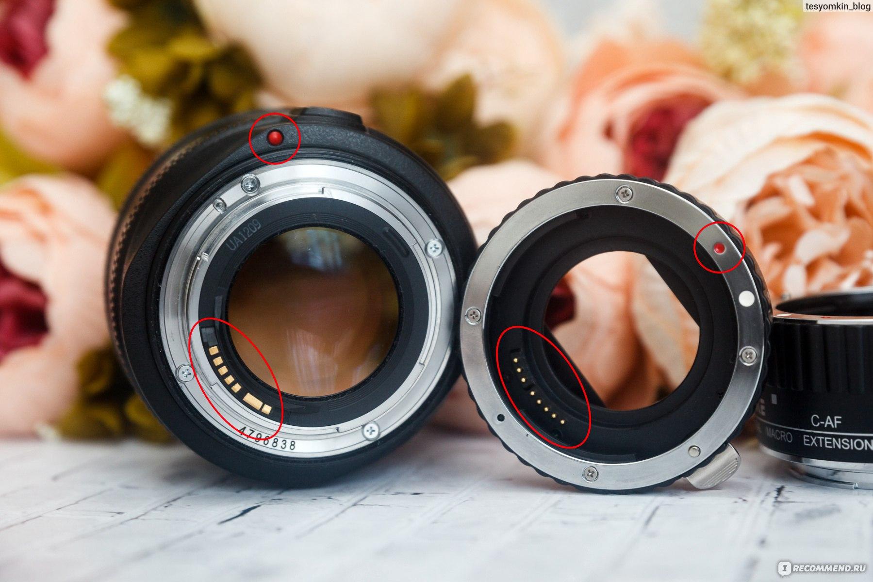 Параметры фотосъемки с макрокольцами