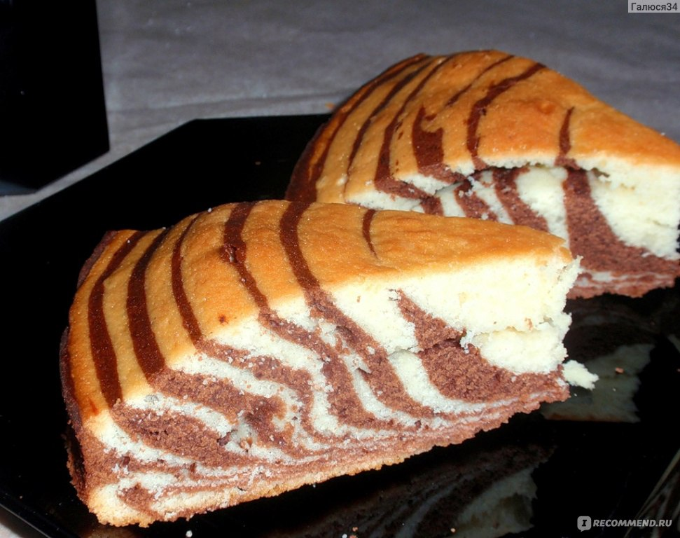 Пошаговые рецепты с фото торта зебра