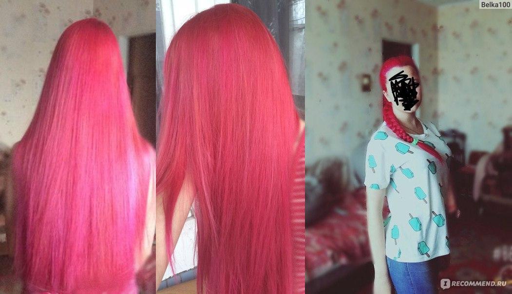 Розовая краска для волос в домашних условиях 88