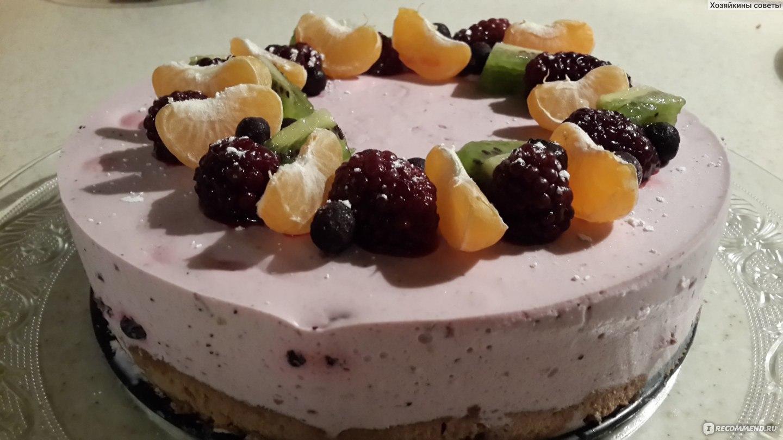 Украшение йогуртового торта фото