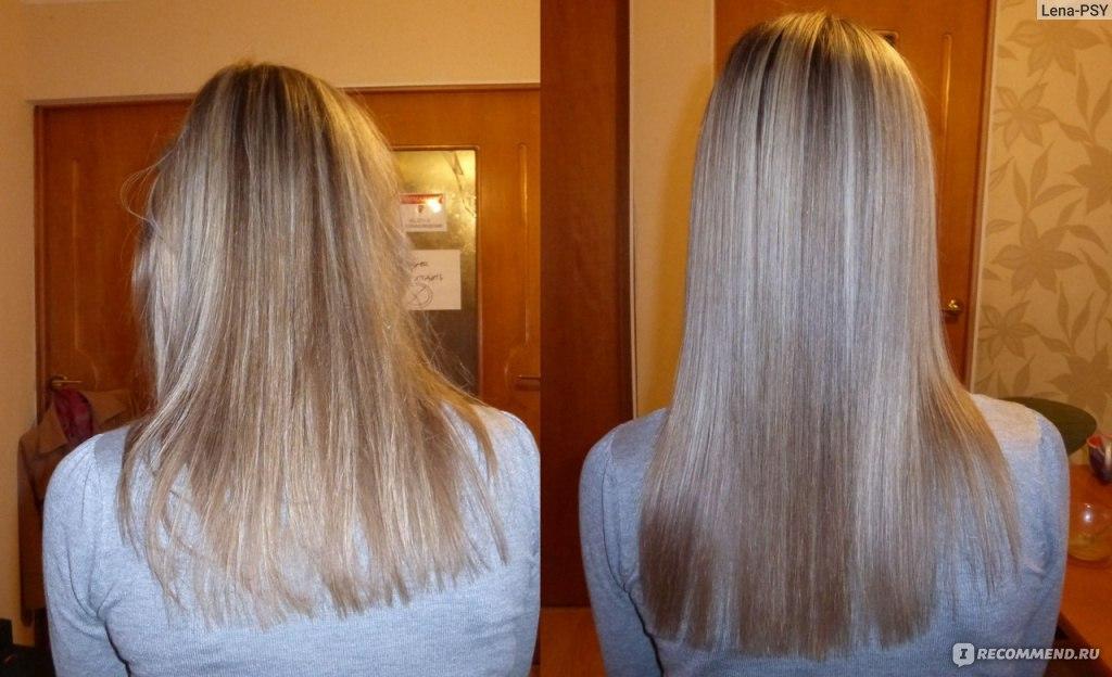 Кератиновое восстановление волос до и после 3