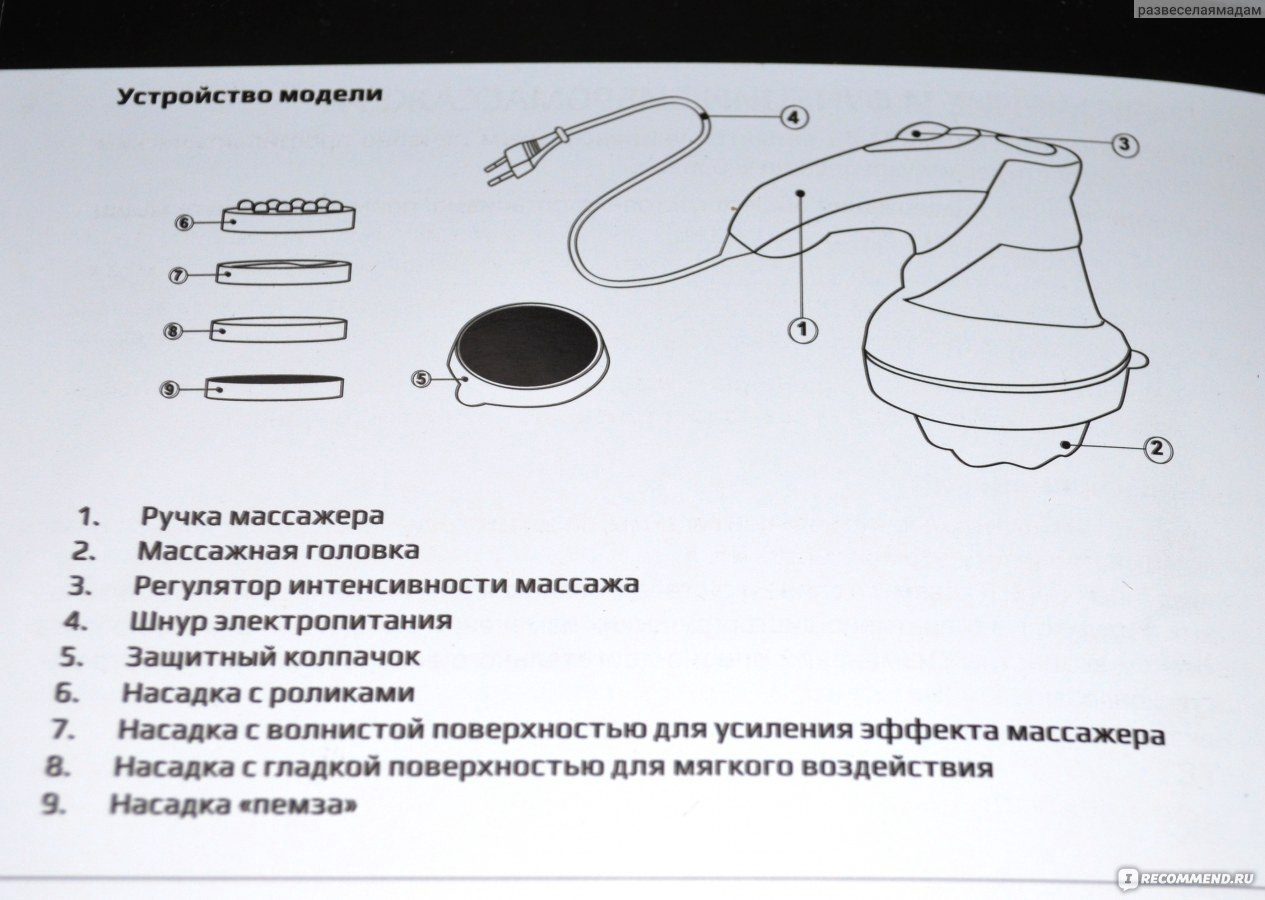 массажер бодикрафт м-43 инструкция
