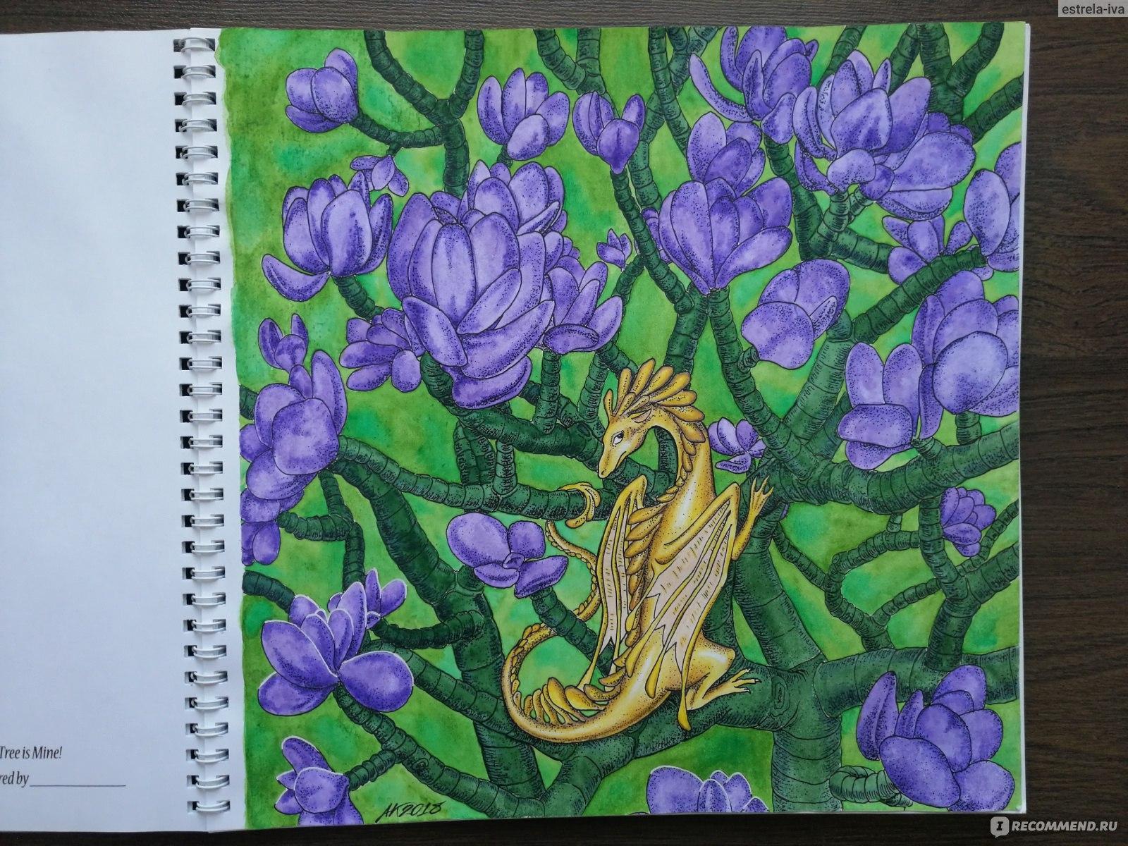 Раскраска для взрослых «Когда драконы мечтают...» («When ...