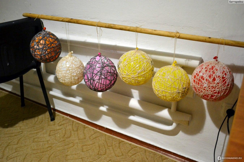 Шарики из ниток и клея и воздушных шариков пошагово
