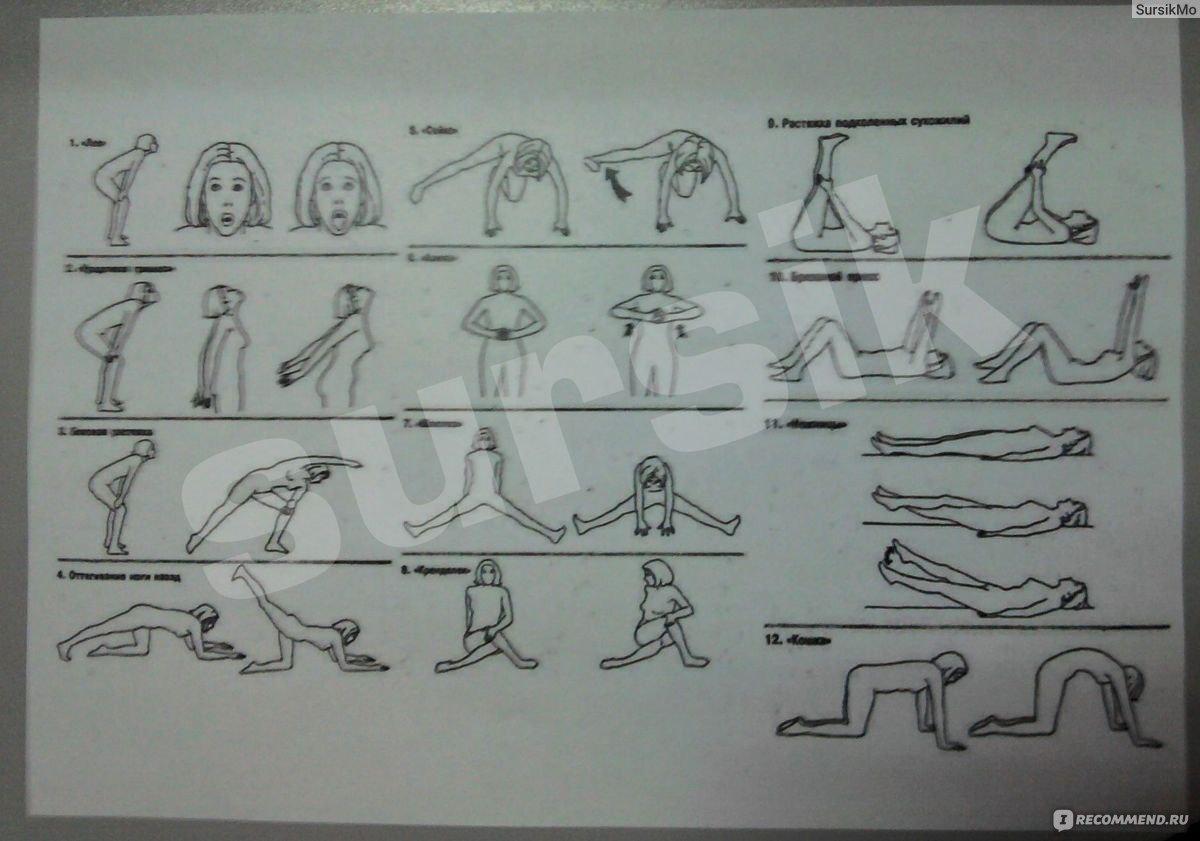 Упражнения бодифлекс для похудения в картинках, нарисовать