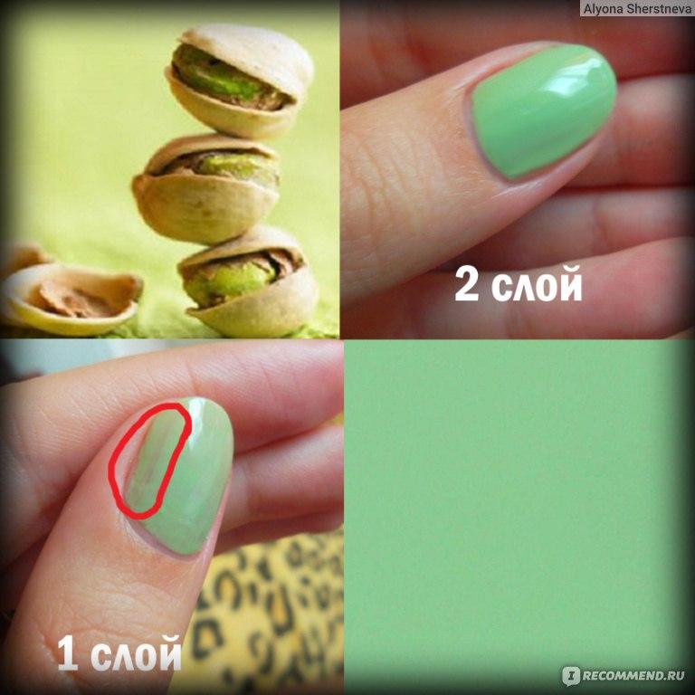 Фисташковый цвет ногтей