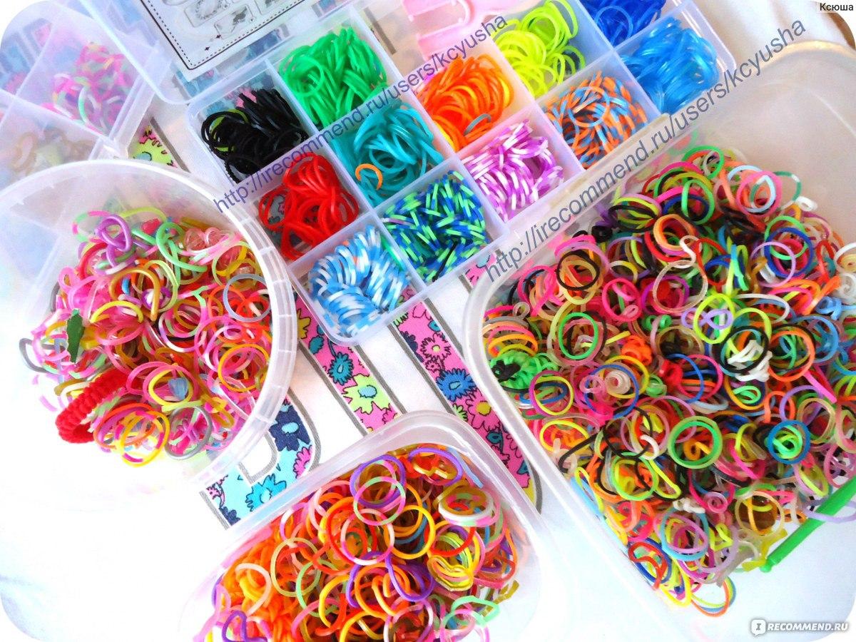 Мои резинки для плетения браслетов и фигурок