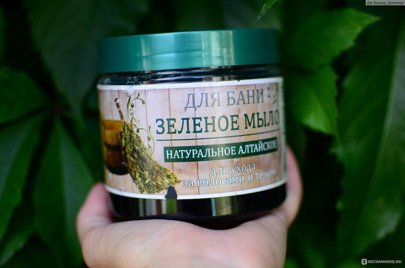 Мыло зеленое для тела и волос и