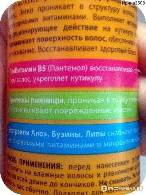Сочетание витаминов для масок для волос