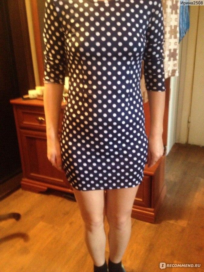 Платье в горошек с алиэкспресс