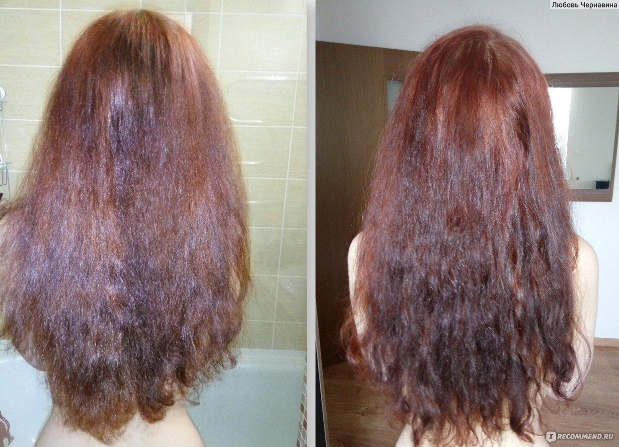 Смывка волос в домашних условиях из рыжего