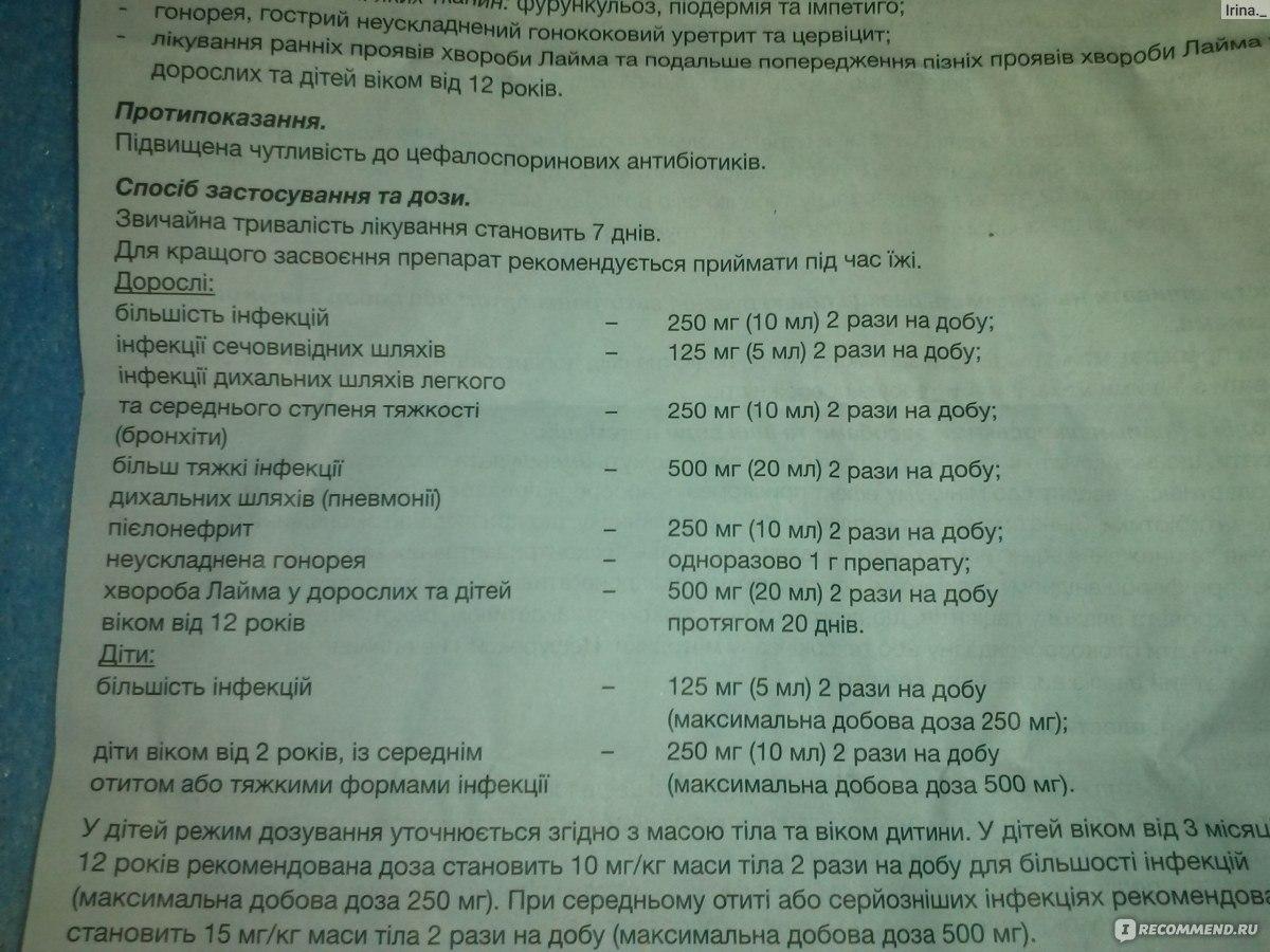 лекарство zinnat tablets 500 mg инструкция
