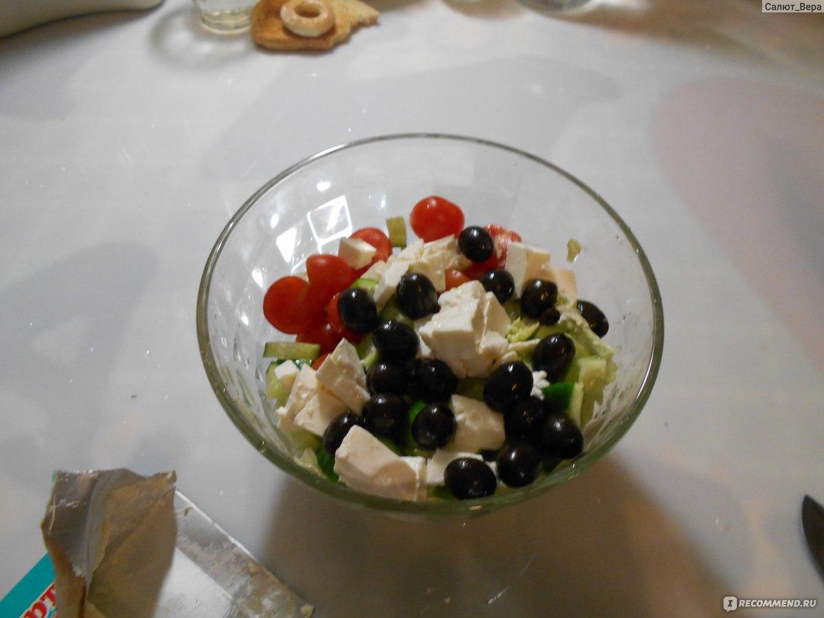 Приготовление греческого салата пошаговое фото