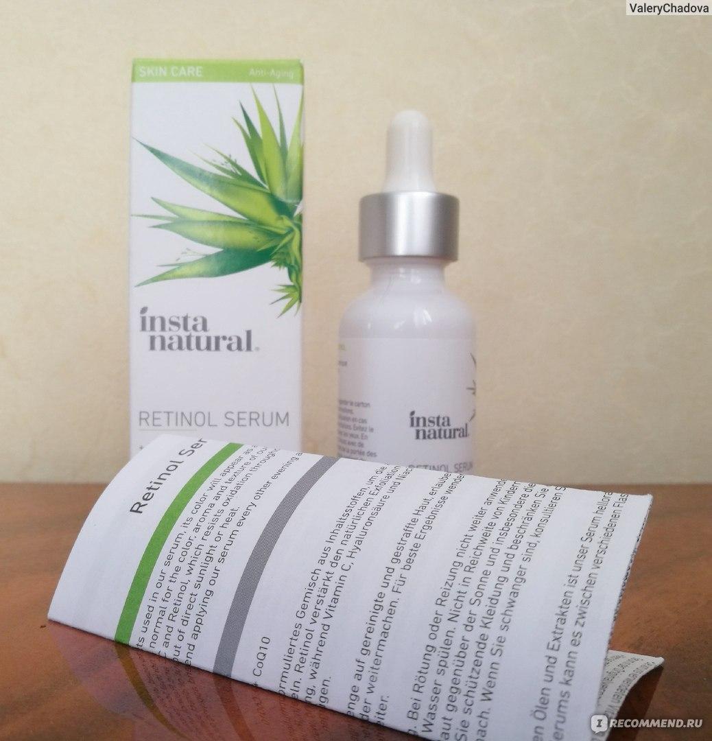 instanatural retinol serum with vitamin c + hyaluronic acid