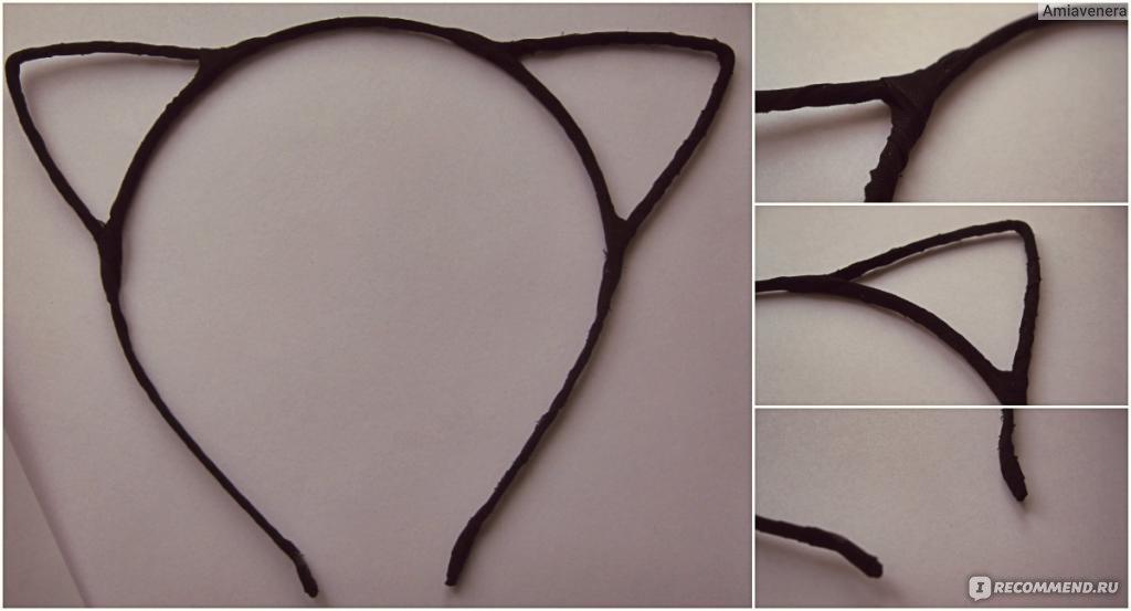 Как сделать ободок с кошачьими ушками своими руками из проволоки 58