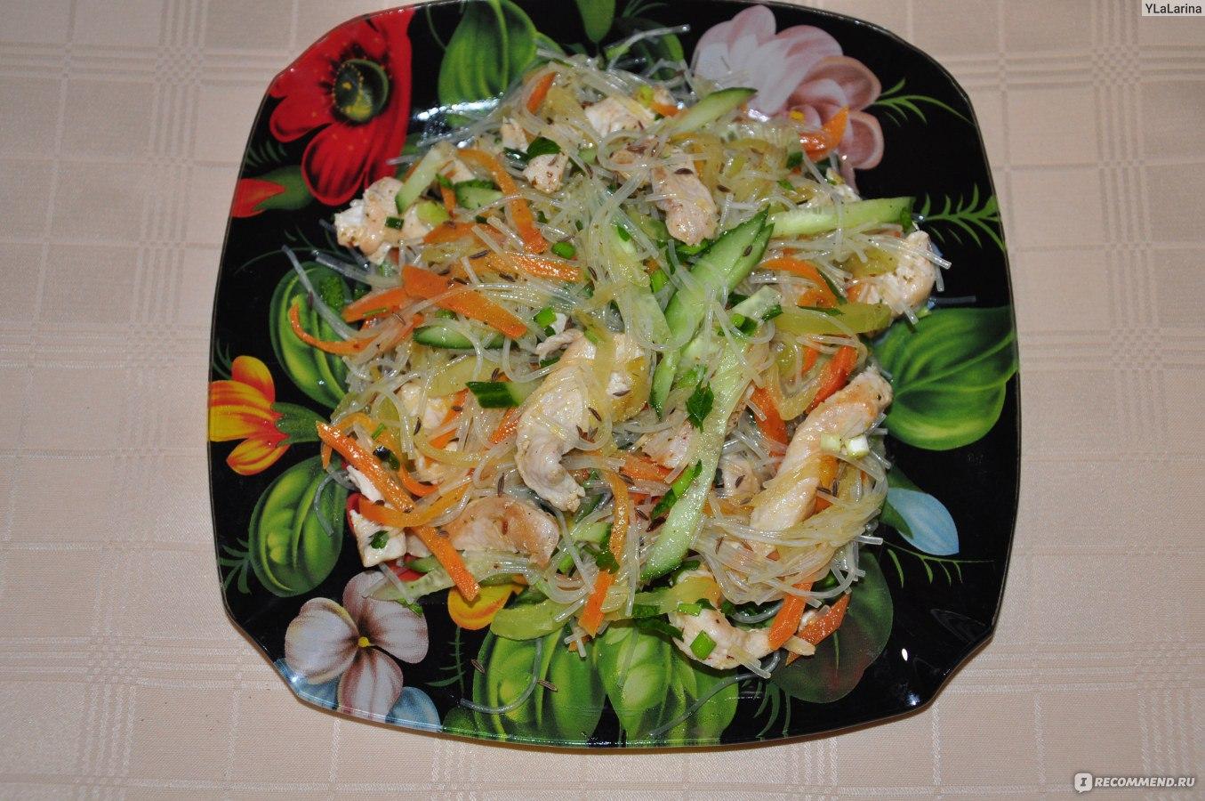 Салат с фунчозой фотоы