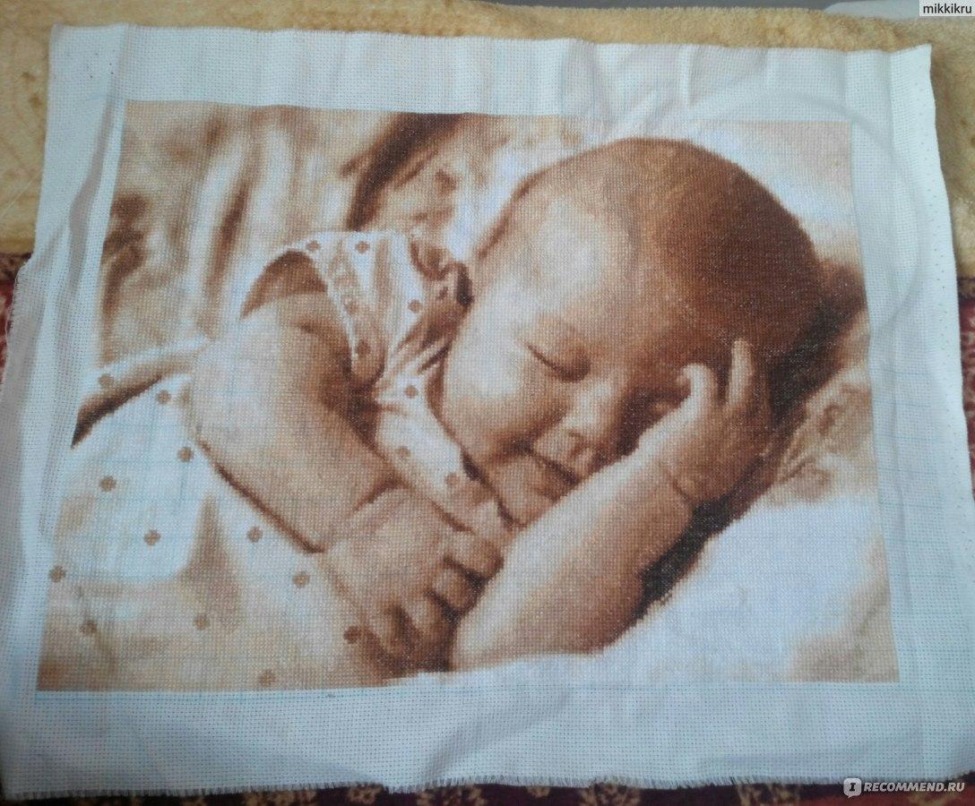 схема для вышивки ребенок на руках