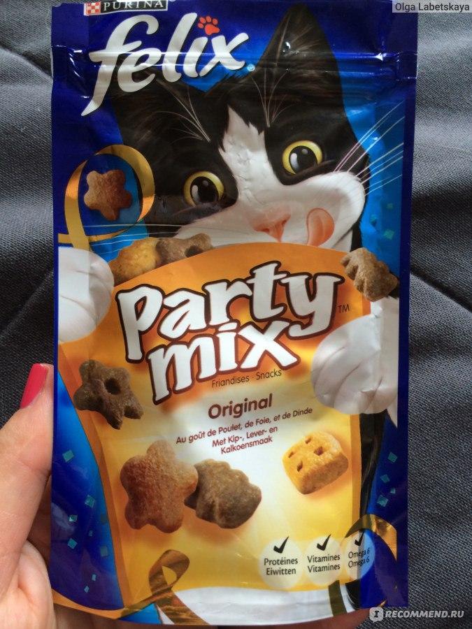 Лакомство Felix Party Mix Морской микс Лосось Треска Форель 60g для кошек 12234058