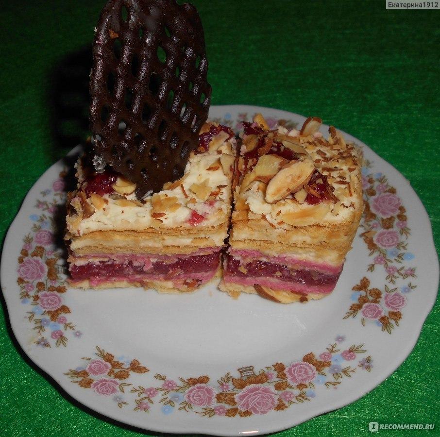 Малиновый комбинированный торт от палыча