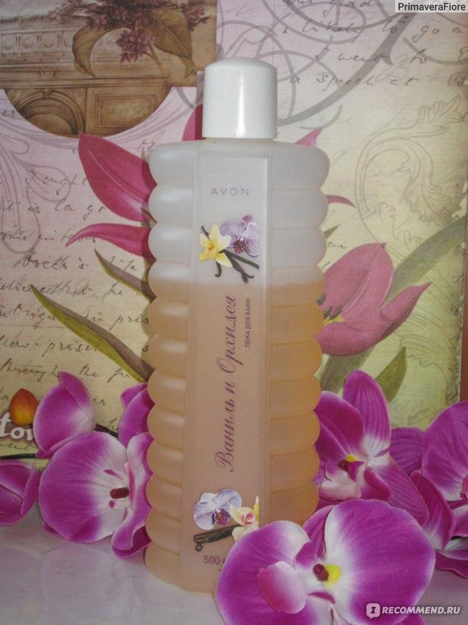 Пена для ванн орхидея и гардения эйвон