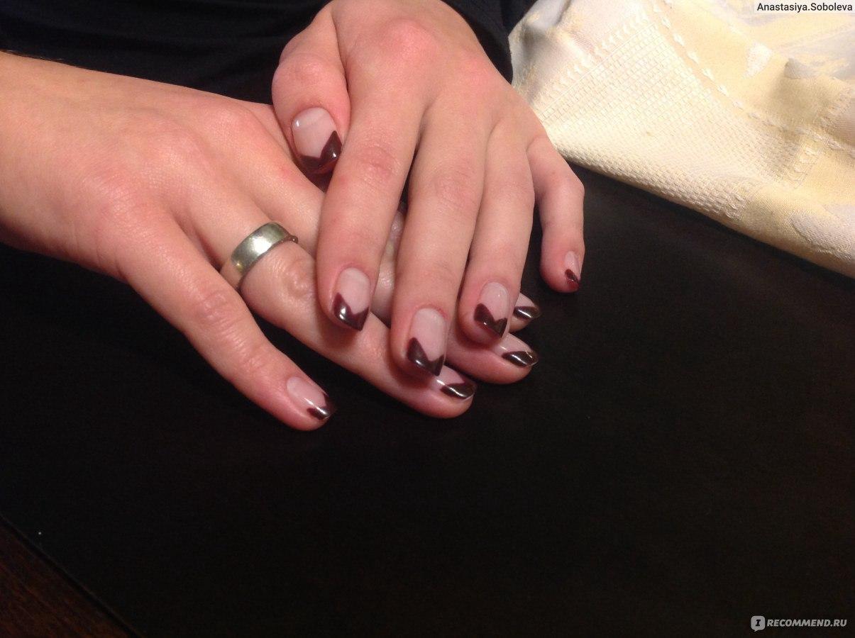 Маникюр на круглые ногти фото в домашних условиях пошагово