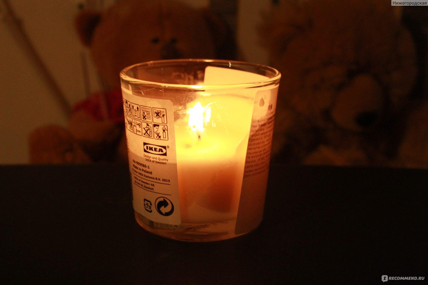 ароматизированная свеча Ikea Sinnlig неотъемлемая часть моего