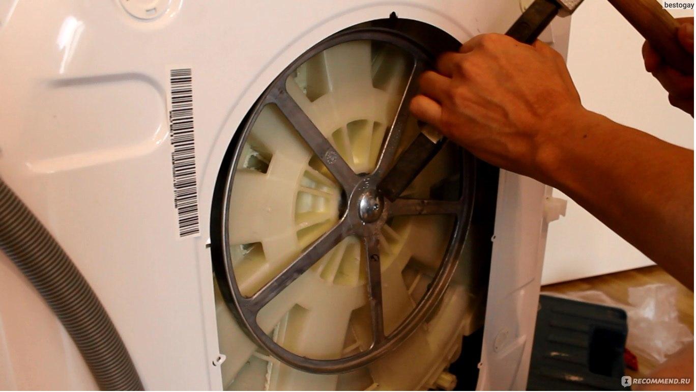 Замена подшипника стиральной машины веко своими руками 8