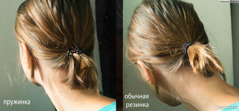 Прическа пучок из резинки для волос
