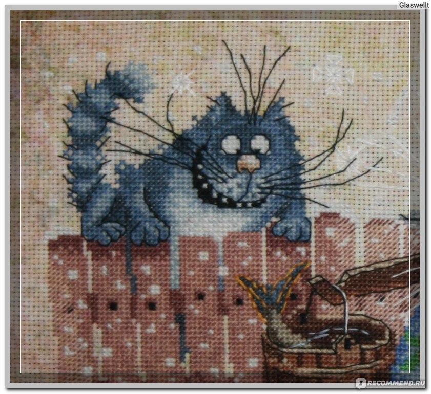 Схема вышивки Синие коты - Схемы