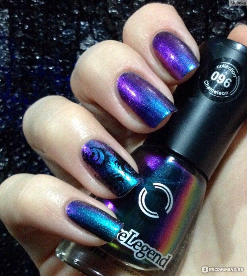 Темно Синие Ногти Дизайн Фото