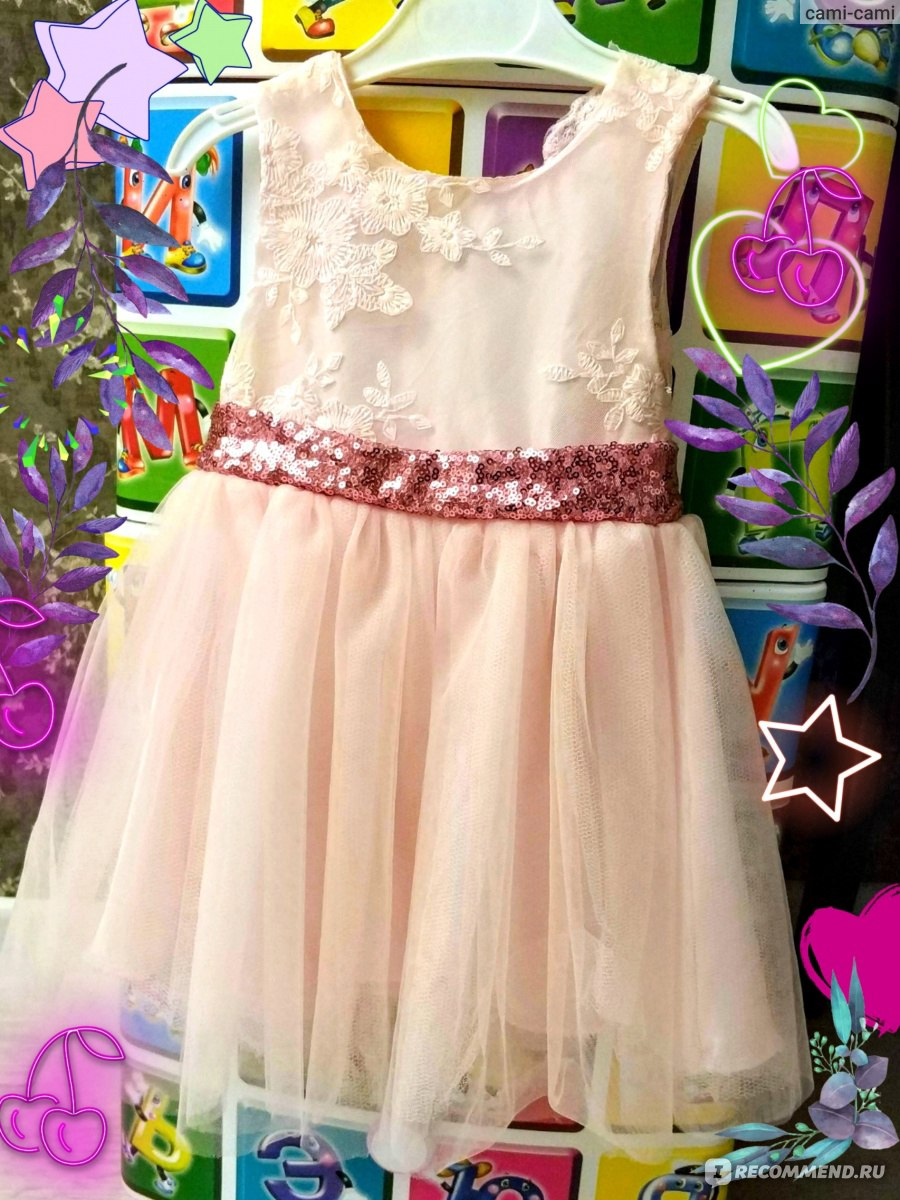 c3c7d2c274bb1 Платье детское AliExpress 0-10T New Fashion Sequin Flower Girl Dress ...
