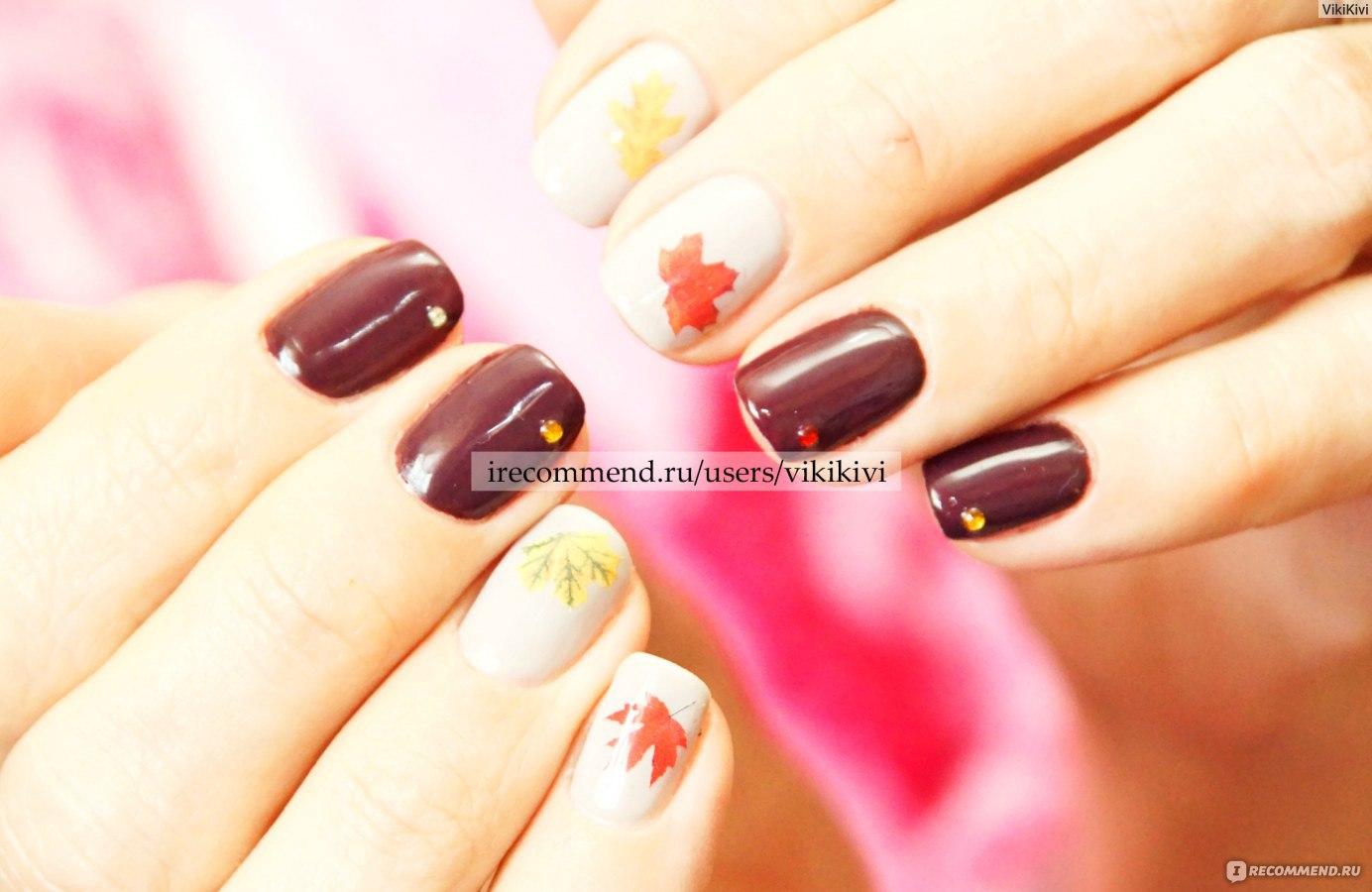 Фото осенних ногтей гель лаком