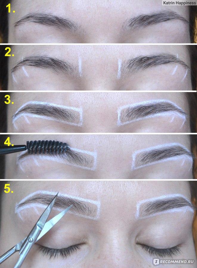 Как красить брови краской фото инструкция