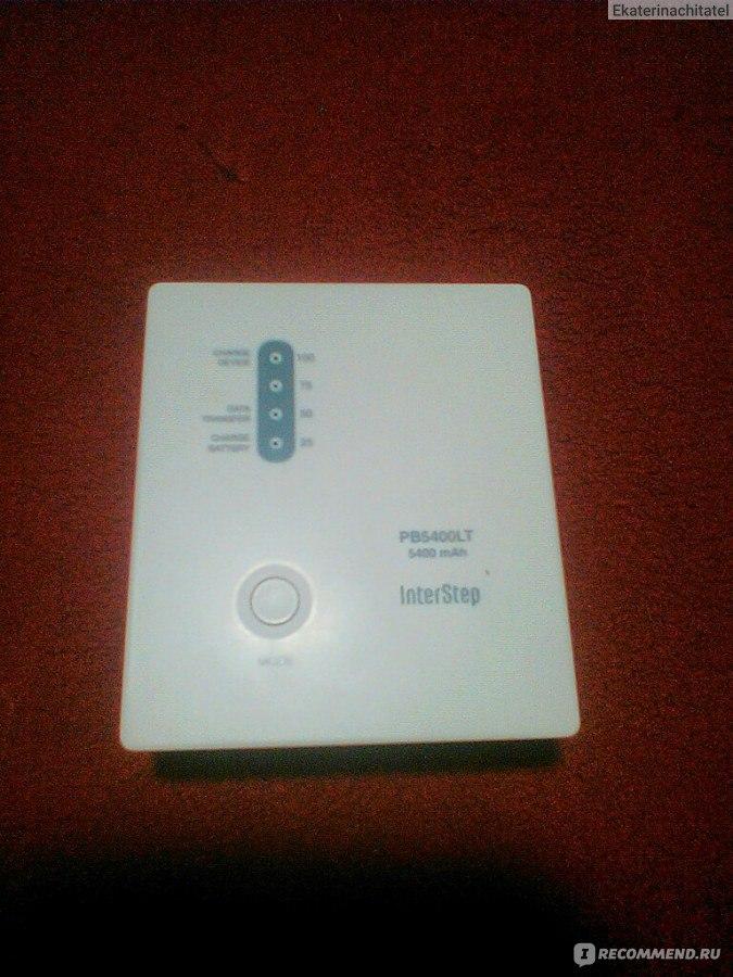 внешний аккумулятор Interstep Pb5400lt хороший внешний