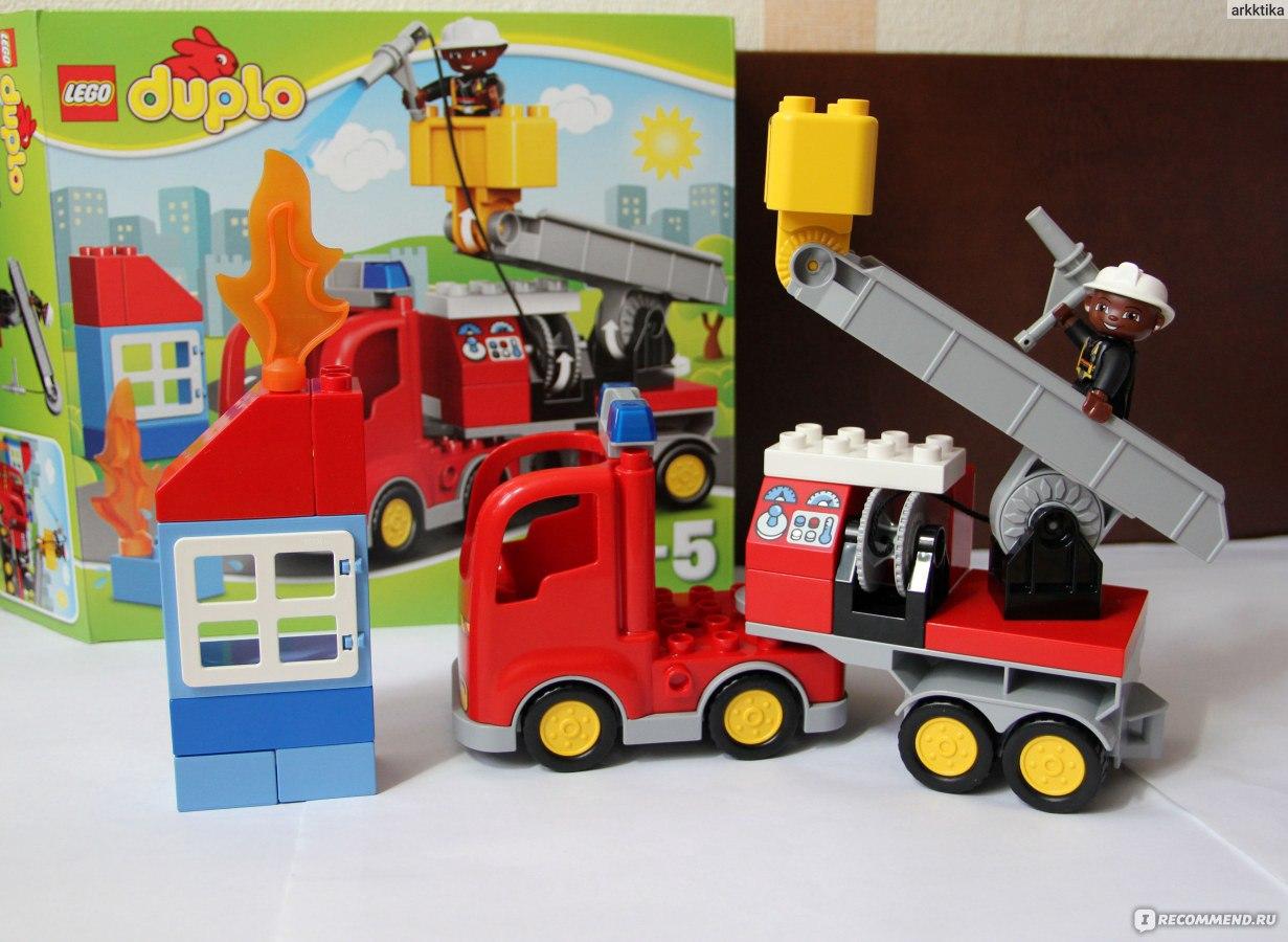 как собрать пожарную машину из лего инструкция