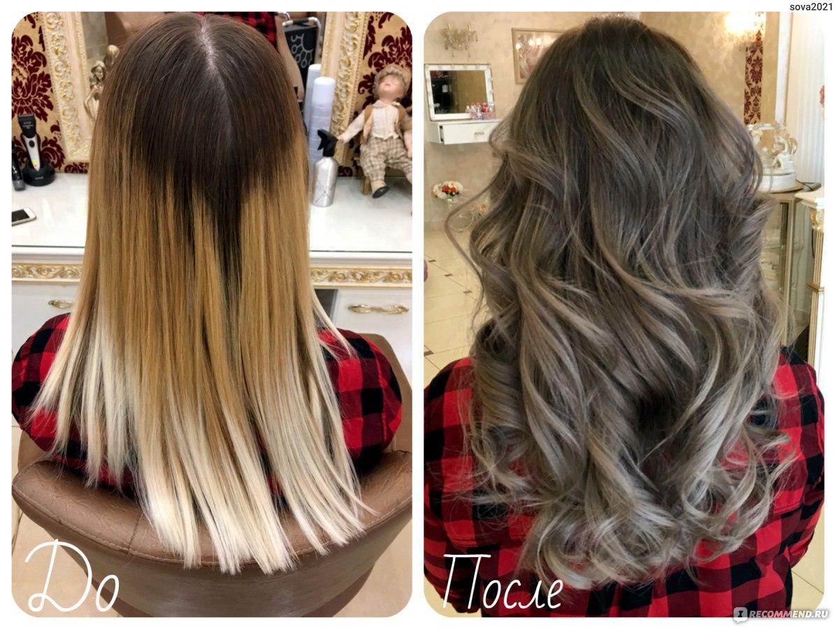 Окрашивание волос в домашних условиях до и после фото