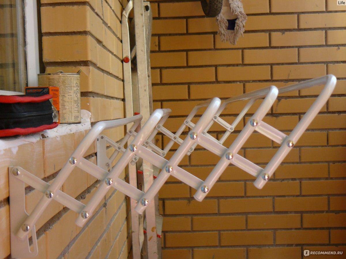 Настенная сушилка для белья на балкон (51 фото): выдвижная и.