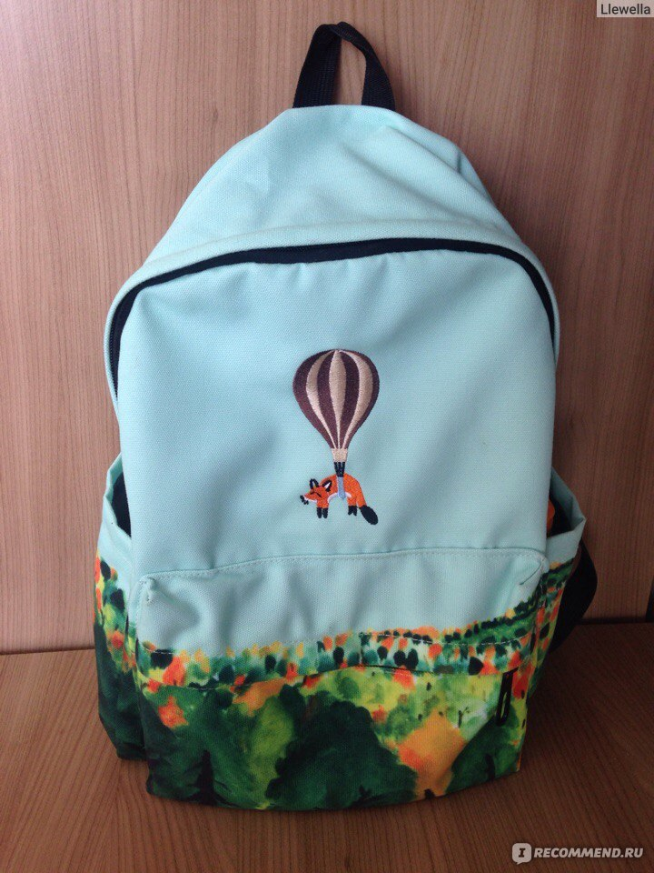 bc82a5d1ec36 Рюкзак женский Aliexpress Newest Design Fire Ballon Animal Embroidery  Backpack 3D Landscape Printing Backpack School Bags