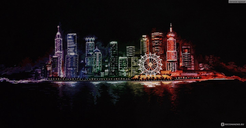 Схема вышивки ночной город 179