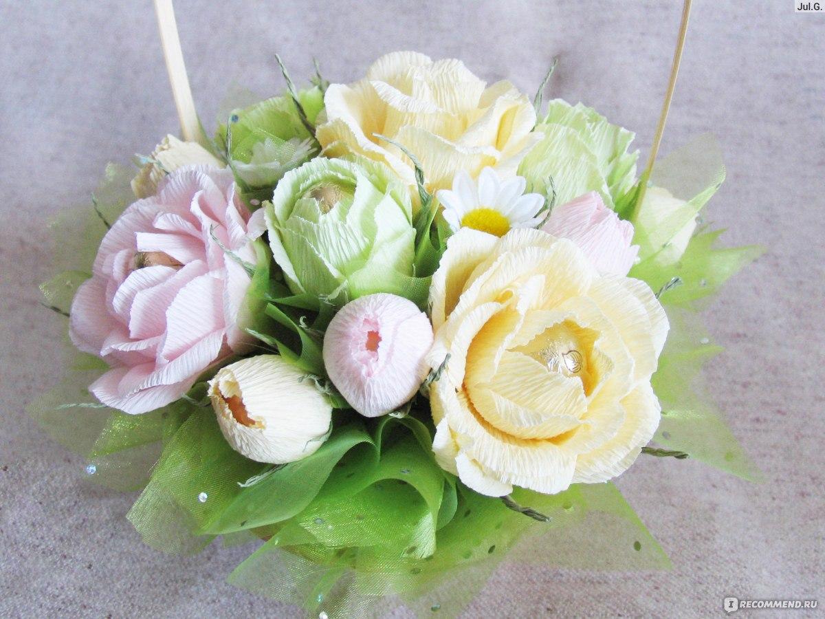 Букеты из конфет своими руками пошагово фото розы