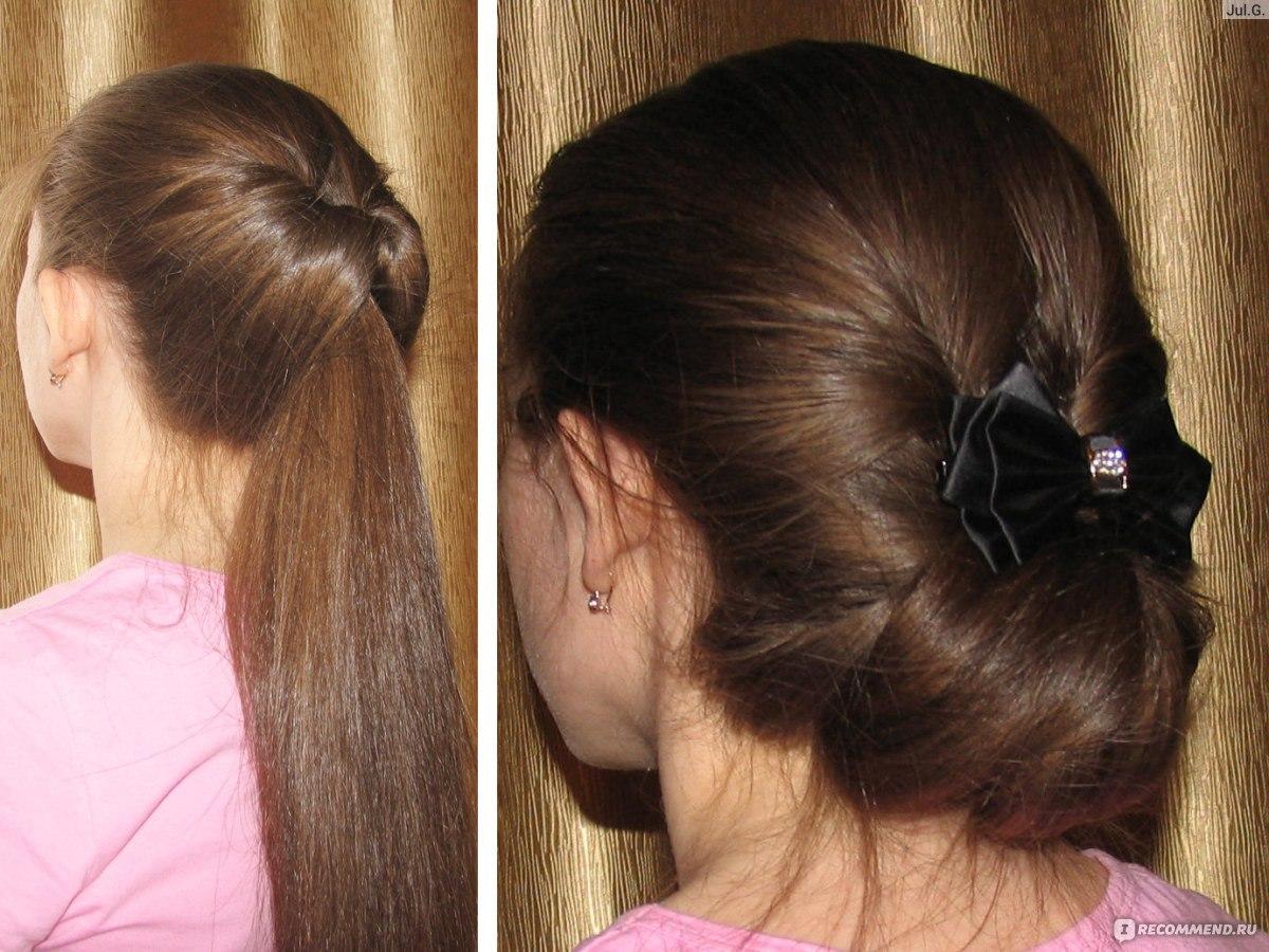 Как сделать гульку если волосы длинные и 918
